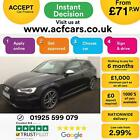 2015 BLACK AUDI S3 20 TFSI 300 QUATTRO 3DR PETROL AUTO CAR FINANCE FROM 71 PW