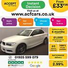 2013 WHITE BMW 118D 20 SPORT PLUS EDITION DIESEL COUPE CAR FINANCE FR 33 PW