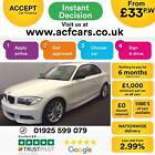 2012 WHITE BMW 118D 20 SPORT PLUS EDITION DIESEL COUPE CAR FINANCE FR 33 PW