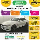 2015 WHITE BMW 420D CONVERTIBLE 20 M SPORT DIESEL AUTO 2DR CAR FINANCE FR 75 PW