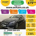 2016 GREY MERCEDES C250 21 AMG LINE PREMIUM PLUS SALOON CAR FINANCE FR 79 PW