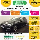 2016 BLACK BMW M135i 30 T SPORT PETROL AUTO 5DR HATCHBACK CAR FINANCE FR 75 PW