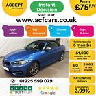 2015 BLUE BMW M235i CONVERTIBLE 30 T SPORT PETROL AUTO 2DR CAR FINANCE FR 75PW
