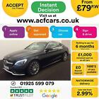 2016 BLACK MERCEDES C220 21 AMG LINE DIESEL AUTO COUPE CAR FINANCE FR 79 PW