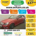 2012 RED MERCEDES C220 21 CDI AMG SPORT PLUS DIESEL ESTATE CAR FINANCE FR 37PW