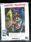 Dimensions Christmas Needlepoint Stocking Kit Nativity Stained Glass 1984 SEALED
