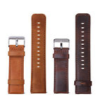 Quick Release Vintage Retro Genuine Leather Replacement Watch Band Strap 23mm