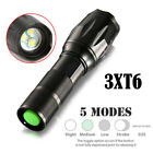1000/15000LM 1x Q5/3x T6 LEDFlashlight 3/5 Modes Waterproof Outdoor Hunt Torch
