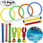 12 Pack Kids Diving Toy Set for Pool Travel Back to School Underwater Fun Game
