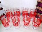 mid century anchor hocking strawberry and gold leaf tumbler drinkware set of 8