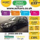 2015 BLACK VW GOLF 20 TDI 150 MATCH DIESEL MAN 5DR HATCH CAR FINANCE FR 33 PW