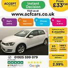 2014 WHITE VW GOLF 16 TDI 105 MATCH DSG DIESEL 5DR HATCH CAR FINANCE FR 33 PW