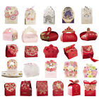 36 Style Wedding Favor Boxes Red Flower Laser Cut Ribbon Candy Box 100pcs