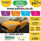 2013 YELLOW FORD FOCUS 20 T ECOBOOST ST3 PETROL 5DR HATCH CAR FINANCE FR 41 PW