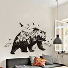 Black Mountain Bear Style Sticker Home Bedroom Decor Murals PVC Wall Stickers