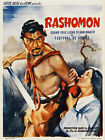 Akira Kurosawa Rashomon Japanese Samurai Movie Poster Canvas Art Print