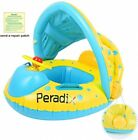 Peradix Infant Water Float For Pool With Canopy Sunshade Inflatable Baby Pool