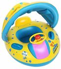 LHS Baby Pool Float Baby Float With Canopy Shade Safety Children Inflatable