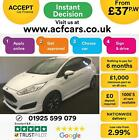 2016 WHITE FORD FIESTA 10 ECOBOOST 140 ST LINE 3DR HATCH CAR FINANCE FR 37 PW