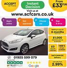 2016 WHITE FORD FIESTA 15 TDCI 95 TITANIUM X 3DR HATCH CAR FINANCE FR 33 PW