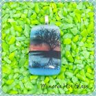 Dichroic Glass Fused Glass Landscape Pendant Scenic Pendant Tree of Life