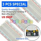 3pcs White Breadboard SYB 400 Tie points Solderless Prototype PCB Circuit Board