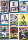 DEVIL RAYS 9 SIGNED TRADING CARDS  LOT 14:LUCAS BAILEY,DUSTIN BIELL,STEVE COX