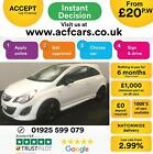 2013 WHITE VAUXHALL CORSA 12 LIMITED EDITION PETROL 3DR CAR FINANCE FR 20 PW