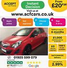 2013 RED VAUXHALL CORSA 12 LIMITED EDITION PETROL 3DR CAR FINANCE FR 20 PW