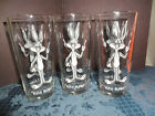 VINTAGE 1973 PEPSI COLLECTION BUGS BUNNY GLASSES SET OF 3 EUC