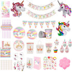 MAGICAL UNICORN Kids Birthday Party Tableware Set Paper Box Cup Rainbow Decor
