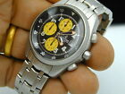 CALYPSO BACK YELLOW DIAL BUBLE BEE CHRONOGRAPH WATCH AND BAND