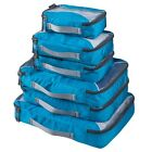 G4Free Packing Cubes Value Set for Travel 6pcs B Blue