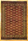 Wool Bokhara 4' 3'' x 6' 5'' Hand-Knotted Rugs 4x6 Maroon Jaldar Rug