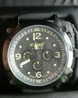 INGERSOLL MENS BISON 29 AUTOMATIC 20 JEWELS YELLOW/ BLACK RUBBER BAND WATCH