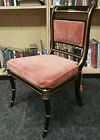 8 Baker Stately Homes Black English Regency Gold Gilt Klismos Chairs