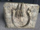 Stuart Weitzman For Russell  Bromley Mock Croc Bag With Tassels