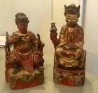 Antique 2 Chinese wood carved Buddhas  10