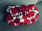 LK BENNETT hard shell Clutch Bag Red and Cream Never Been Used