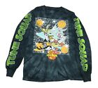 Space Jam Looney Tunes Bugs Daffy Taz Wile E Tie Dye Mens Long Sleeve Shirt