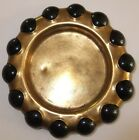 1930s Fisher Master Jewel Tray Brass 14 Large Marbles RARE 5 1/4
