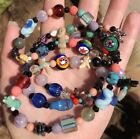 Vintage Art Glass Millefiori Native American Animal Fetish Turquoise Necklace