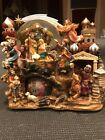 large nativity scene snowglobe