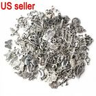 Lots 1000pcs Bulk Tibetan Silver Mix Charm Pendants Jewelry Making DIY US stock
