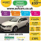 2014 WHITE VW PASSAT ESTATE 20 TDI 140 BMT EXECUTIVE STYLE CAR FINANCE FR 33PW