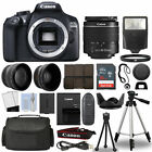 Canon 1300D Rebel T6 DSLR Camera + 18 55mm 3 Lens Kit + 16GB Top Value Bundle