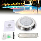 12V 54W 7 Color RGB LED Swimming Pool Light Lamp Underwater + Remote Control New