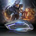 USB Wired Gaming Mouse 4000DPI 9 Buttons 4 Color LED Backlight Optical PC Mice