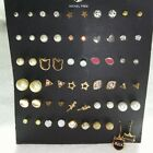 WHOLESALE LOT OF ** 100 PAIRS ** STUD EARRINGS , ALL , FASHION JEWELRY