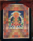 VERY RARE ANTIQUE THANGKA PAINTING AMITAYUS BUDDHA TIBET BUDDHISM 19TH C.